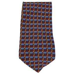 Kenneth Cole New York Mens Tie Silk Red Multicolor
